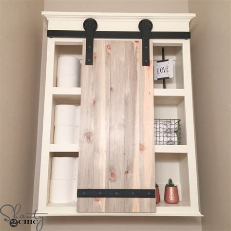 Diy Bathroom Furniture Diy Sliding Barn Door Bathroom Cabinet Shanty 2 Chic