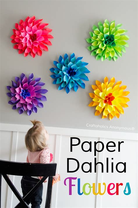 Paper L Ideas - 50 diy flower craft ideas to try