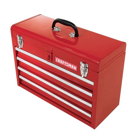 sears 4 drawer tool chest craftsman 20 1 2 quot 4 drawer portable tool chest red