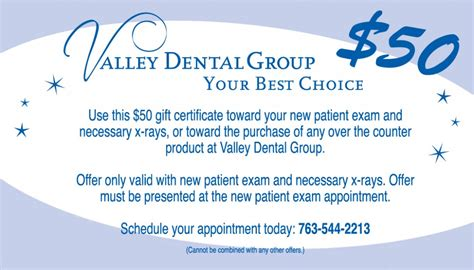 dental gift certificate template welcome valley dental