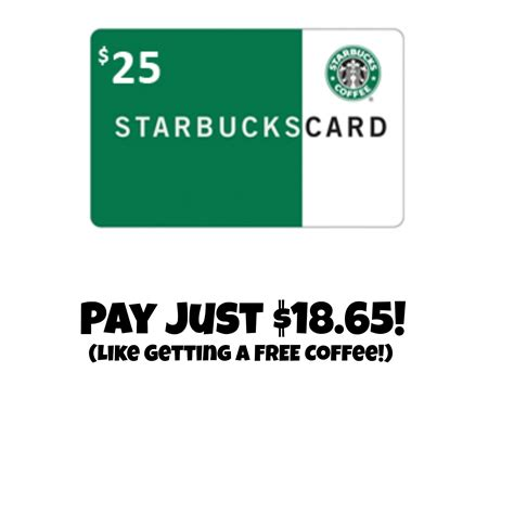 Starbucks Gift Card Amount - 25 starbucks gift card for just 18 65