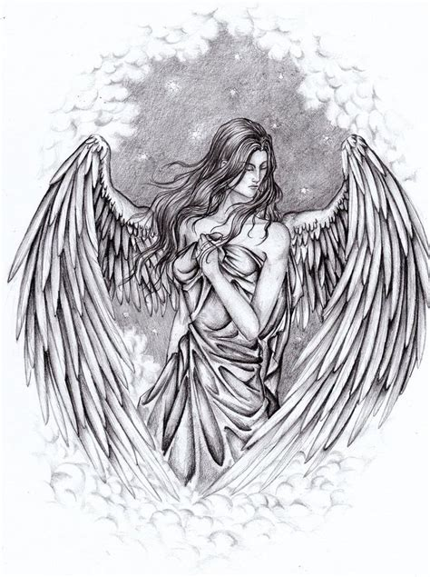 angel tattoo drawings 49 best images about drawings on pencil