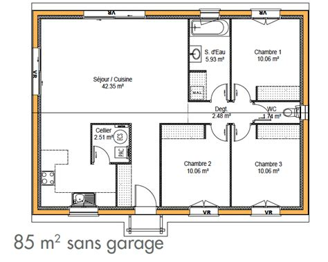 Exemple De Plan De Maison 3334 by Cuisine Construction De Maison Simple Immo Construction