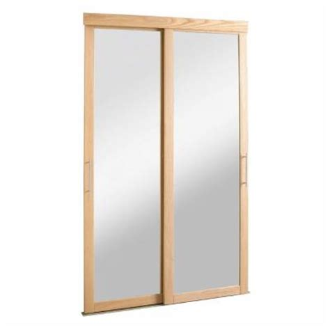 Closet Mirrors Home Depot by Pinecroft 72 In X 80 1 2 In Mirror Zen Oak Frame For