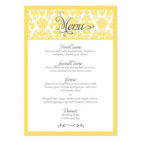 menu card design templates menu card template