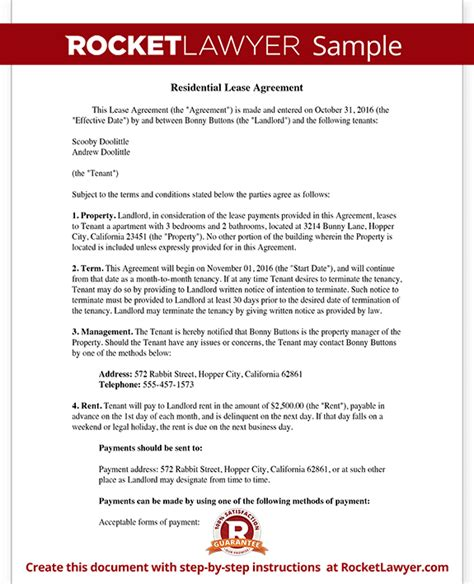 lease agreements free day care business plan