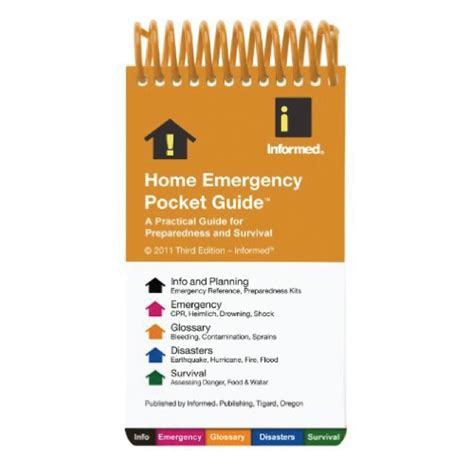 home emergency pocket guide for disaster preparedness