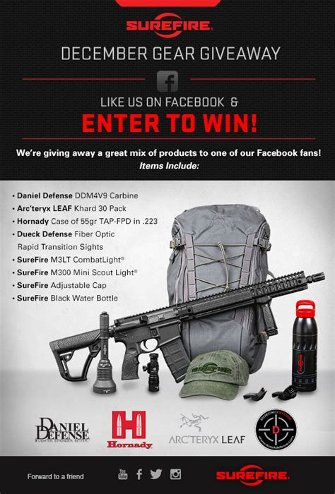 Gear Giveaway - surefire december gear giveaway soldier systems daily