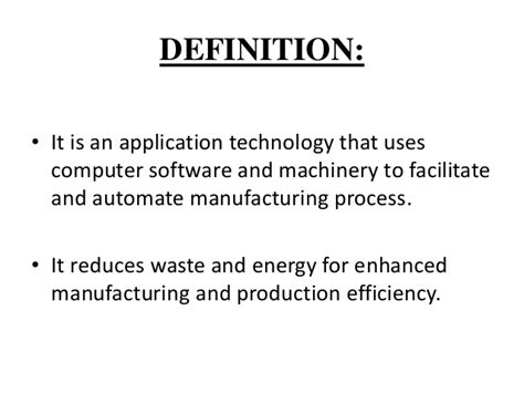 design for manufacturing definition computer aided design computer aided manufacturing