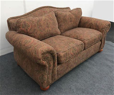 paisley print sofa gorgeous ethan allen loveseat rose colored paisley print