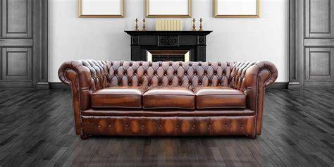vintage sofa london designersofas4u buy 3 seater tan leather chesterfield