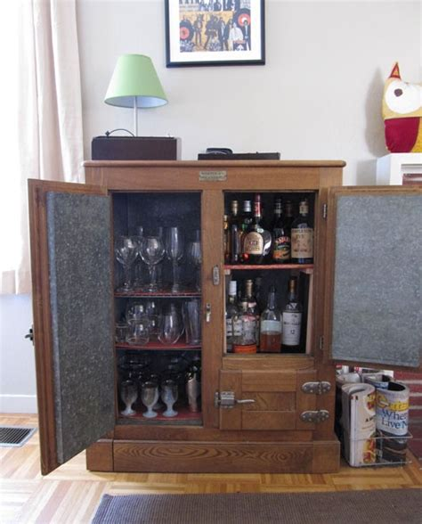 diy liquor cabinet with mini fridge 1000 images about furniture on corner