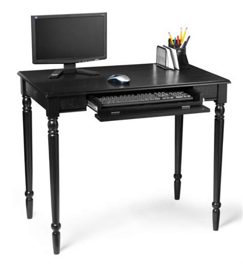 Black Wood Computer Desk Country Black Wood Office Computer Desk Table Ebay