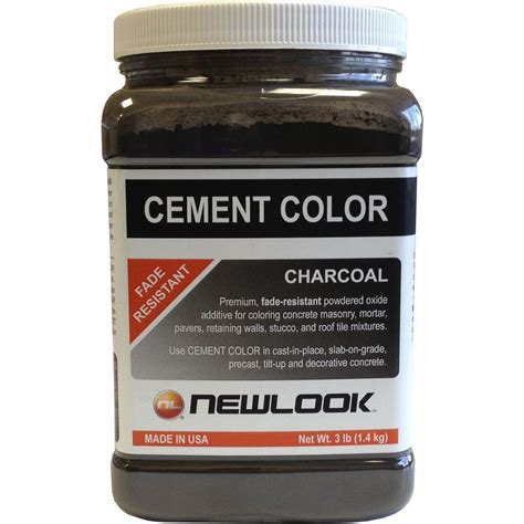 newlook 3 lb charcoal fade resistant cement color