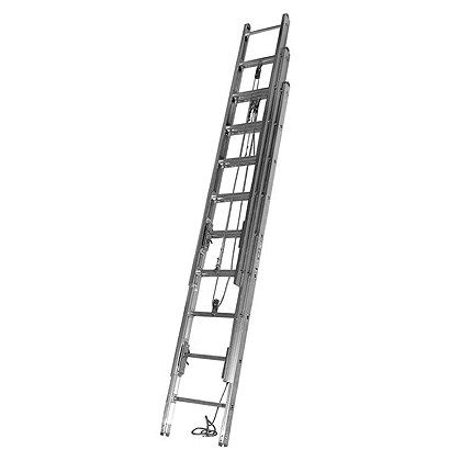 three section extension ladder duo safety 1225 a 3 section aluminum extension ladder
