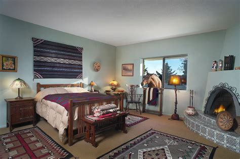 western themed bedroom western theme with navajo rugs and arts crafts