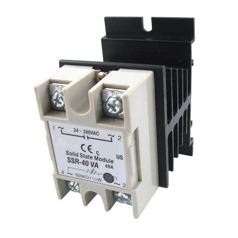 24 380v 40a Ssr voltage resistance regulator solid state relay ssr 40a 24 380v ac w heat sink dw ebay