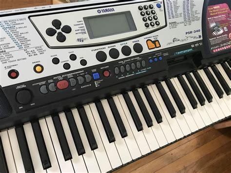 Second Keyboard Yamaha Psr 340 yamaha psr 340 keyboard reverb