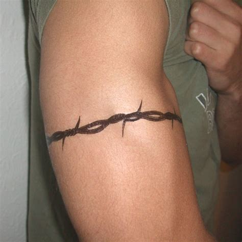 barb wire tattoo pictures of the temporary barbed wire