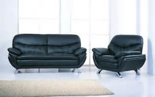 Loveseat Futon Cover Jonus Italian Black Leather 2 Pc Living Room Set Sofa And