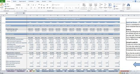 restaurant budget template restaurant budget template cfotemplates