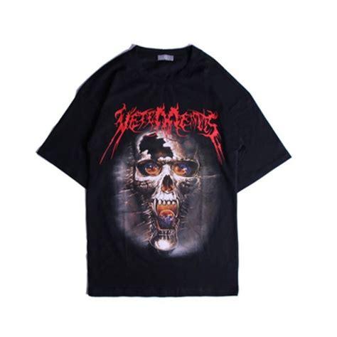 T Shirt As vetements skull t shirt black