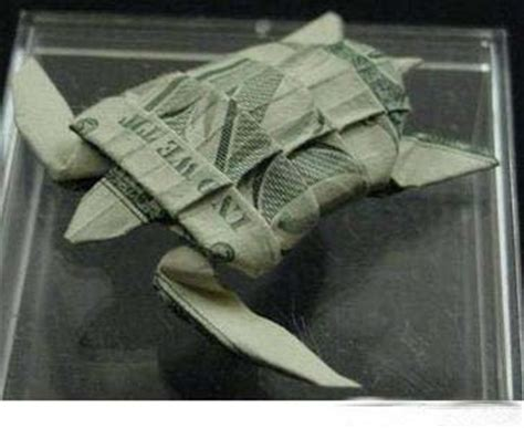 Money Origami Turtle - lonewolf cool animal money origami
