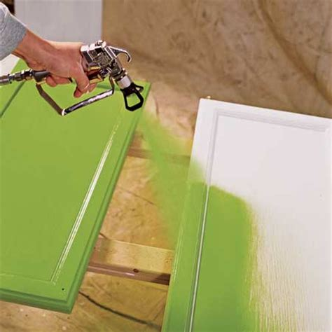 Spray Paint Kitchen Cabinets How To Paint Kitchen Cabinet With A Sprayer Kitchen Design Photos