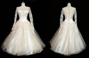 vintage 50s wedding dress 50s ivory lace and by