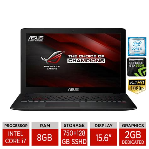 Laptop Asus Gaming 15 6 Rog Gl552jx Pret asus rog gl552jx 15 6 quot gaming laptop i7 4720hq 8gb ram 750gb 128gb sshd