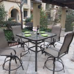 High Patio Table Set Patio Dining Sets Glass Top Minimalist Pixelmari