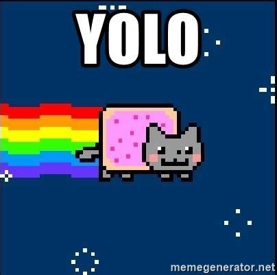 Meme Nyan Cat - yolo irresponsible nyan cat meme generator