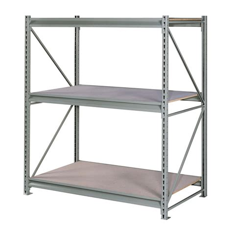 lowes metal shelves shop edsal 72 in h x 72 in w x 48 in d 3 tier steel freestanding shelving unit at lowes