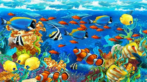 Green World Sea Fish sea underwater world coral tropical fish