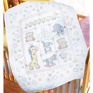 the lullaby friends baby quilt sted cross stitch kit