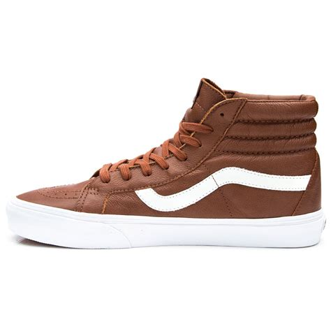 vans sk8 hi reissue premium leather shoes