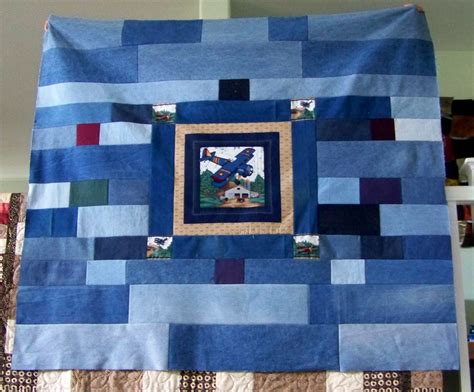 2 jean quilts for charity