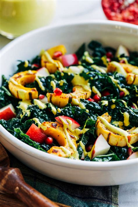 fall harvest salad with turmeric dressing making thyme