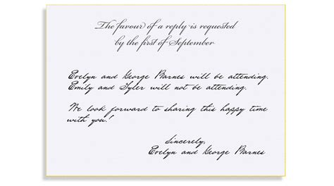 wedding invitation response card how to respond rsvp etiquette traditional favour of a reply filled out