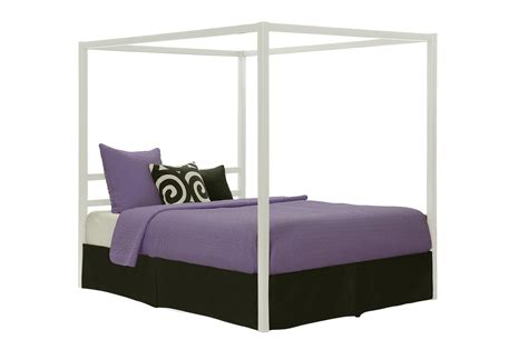 canopy bed modern dhp furniture modern canopy metal bed