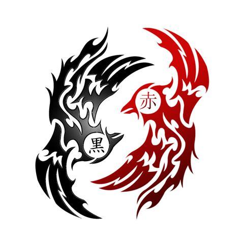 phoenix yin yang tribal v1 2 by kuroakai on deviantart