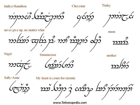 tattoo fonts elvish 40 awesome elvish tattoos quotes images tattoos