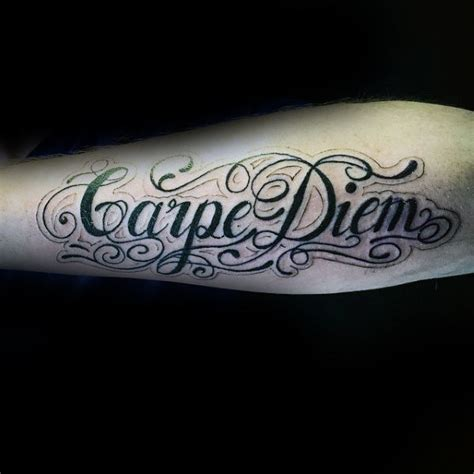 carpe diem tattoos for men 70 carpe diem designs for seize the day ink ideas
