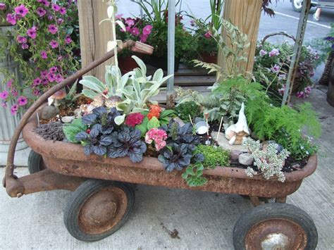 Wagon Flower Planter by Vintage Wagons On Wagon Planter Wagons