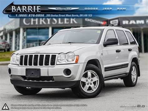 silver jeep grand 2006 2006 jeep grand laredo silver barrie chrysler