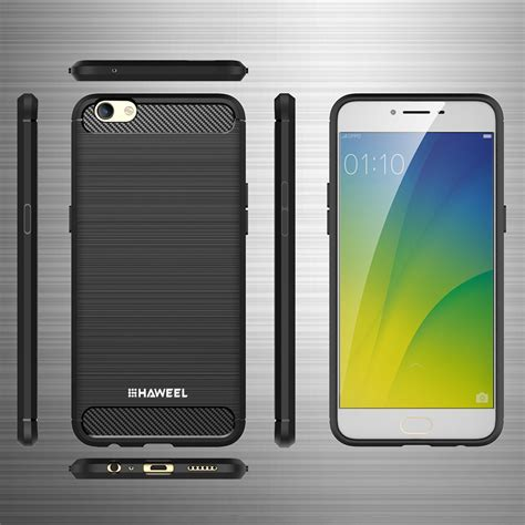 Carbon Fiber Oppo F3 Plus haweel flexi slim carbon fibre for oppo r9s plus black
