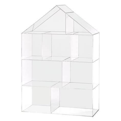 clear acrylic bookshelves publisher s clear house bookcase the land of nod