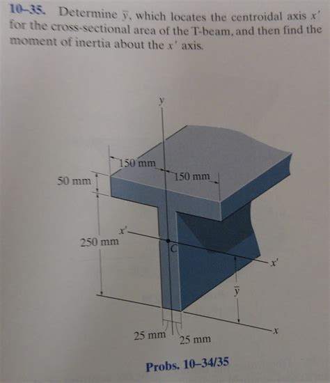 cross sectional area of a beam determine y bar which locates the centroidal axis