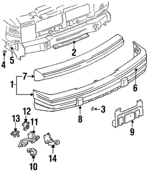1996 Jeep Grand Laredo Parts Bumper Components Front For 1996 Jeep Grand
