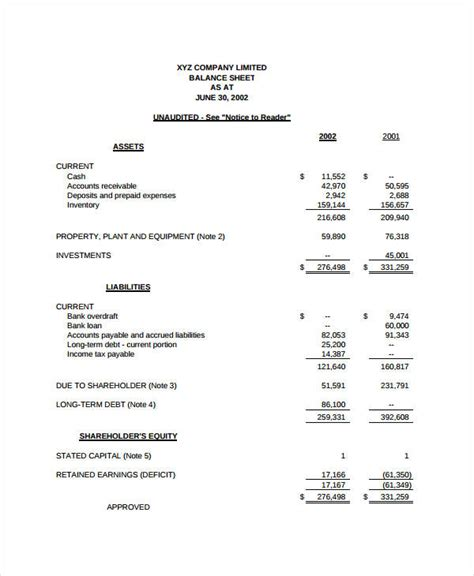 income statement format 9 free sle exle format